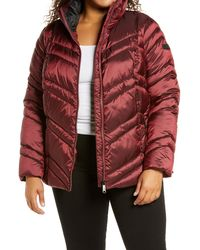 Sam Edelman Faux Fur Trim Jacket - Red