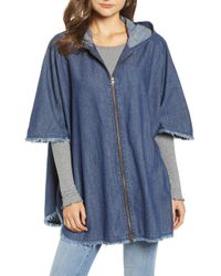 Treasure & Bond - Denim Hooded Cape - Lyst