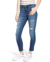 Vigoss - Jagger Ripped Ankle Skinny Jeans - Lyst
