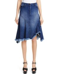 1aafcd6908 Michael Kors - Handkerchief Denim Skirt - Lyst