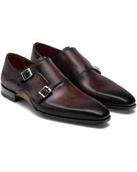 Magnanni Altamira Double Monk Strap Shoe - Brown