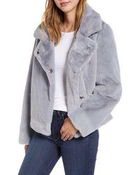 Sam Edelman Faux Fur Jacket - Blue