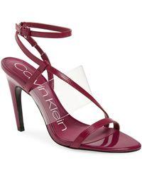 4b623ff69bb Calvin Klein Giorgio (white Liquid Patent/clear Lucite) Women's ...