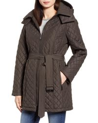London Fog - Heritage Diamond Quilted Hooded Jacket - Lyst