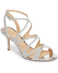 Badgley Mischka - Tasha Glitter Sandal - Lyst