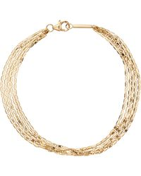 Lana Jewelry Malibu Five Strand Chain Bracelet - Metallic