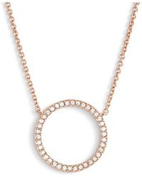 Lyst nadri circle pendant necklace in metallic nadri openwork crystal pendant necklace lyst aloadofball Choice Image