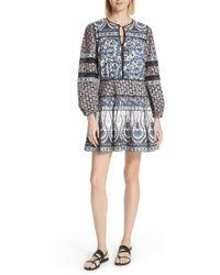 Sea - Gemma Contrast Binding Peasant Dress - Lyst