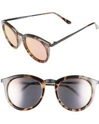 9c4976bf9f Le Specs -  no Smirking  50mm Round Sunglasses - - Lyst