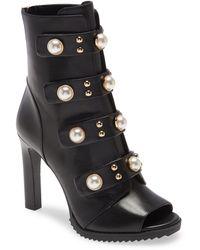 Karl Lagerfeld Brayden Embellished Bootie - Black