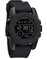 Nixon - 'the Unit 40' Round Digital Watch - Lyst