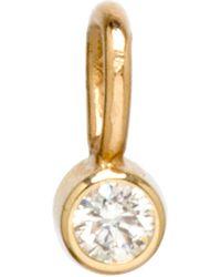 Zoe Chicco Bezeled Diamond Charm - Metallic