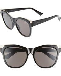 Quay It's My Way 56mm Cat Eye Sunglasses - Black