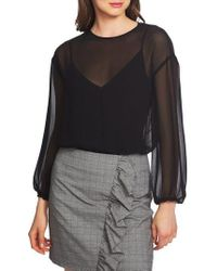1.STATE - Mixed Media Knit Bodysuit - Lyst