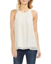 Vince Camuto - Embroidered Eyelet Gauze Blouse - Lyst