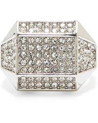 Vince Camuto Geometric Pavé Ring - Metallic