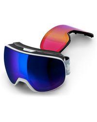 7bb934f875 adidas - Progressor L Mirrored Spherical Snowsports Gogglesed - Shiny  White  Blue - Lyst