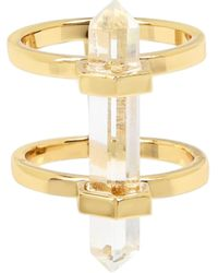 AllSaints Quartz Double-row Ring - Metallic