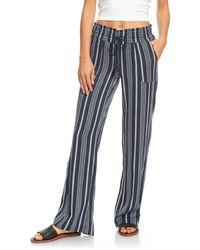 Roxy Oceanside Stripe Pants - Blue