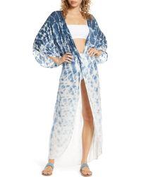 Surf Gypsy Tie Dye Twist Cover-up Dress - Blue