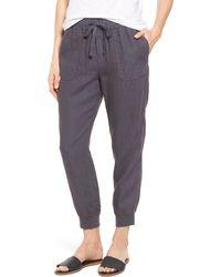 Caslon Caslon Linen Sweatpants - Gray