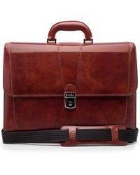 Bosca - Leather Double Gusset Briefcase - Lyst