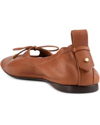 FRAME Le Sunset Square Toe Calf Hair Ballet Flat - Brown