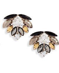 Sorrelli Xenia Statement Earrings - Metallic