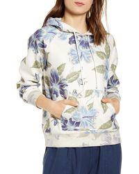 Faherty Brand Kololi Floral Fleece Sweatshirt - Blue