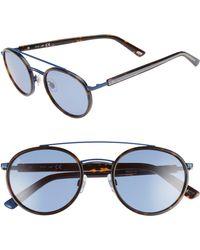 Web - 52mm Aviator Sunglasses - Dark Havana/ Blue - Lyst