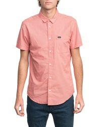 RVCA - 'that'll Do' Slim Fit Microdot Woven Shirt - Lyst