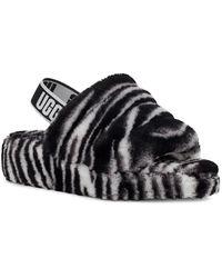 UGG - UGG Fluff Yeah Genuine Shearling Slingback Sandal - Lyst
