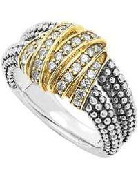Lagos - 'diamonds & Caviar' Medium Diamond Ring - Lyst