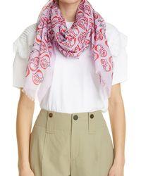 Chloé Chloé Logo Heart Cotton Pareo - Pink