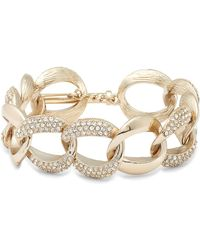Nina - Pave Curb Chain Bracelet - Lyst