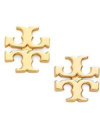 Tory Burch - Logo Stud Earrings - Lyst