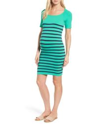 Tees by Tina - 'nautical' Short Sleeve Maternity Dress - Lyst