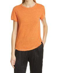FRAME Easy True Organic Linen T-shirt - Orange