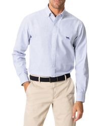 Rodd & Gunn South Island Oxford Sports Fit Shirt - Blue