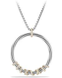 David Yurman Helena Large Pendant Necklace With Diamonds And 18k Gold - Metallic