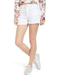 BP. - High Waist Cutoff Denim Shorts - Lyst
