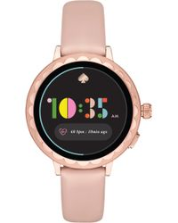 Kate Spade Scallop Pale Vellum Leather Smartwatch - Pink