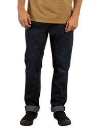 Volcom - Kinkade Tapered Leg Jeans - Lyst