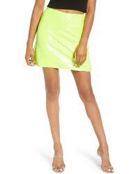 Leith Sequin Miniskirt - Green