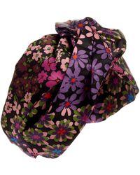 Kate Spade Pacific Petals Twisted Silk Headband - Black