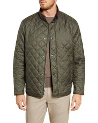 Peter Millar Suffolk Quilted Water-resistant Car Coat - Green