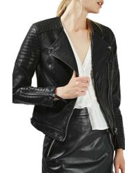ea06d04b4 Polly Faux-Leather Biker Jacket - Black ... Info Everyone should own a  biker jacket and this black Polly design by Topshop is a contemporary  choice. ...