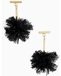 Tuleste | Lace Pom Pom T-bar Stud Earrings | Lyst