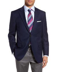 Peter Millar Flynn Classic Fit Wool Blazer - Blue