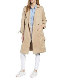 Lucky Brand Margo Soft Trench Coat - Natural